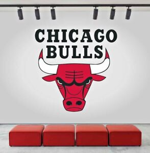 Image Is Loading Chicago Bulls Logo Wall Decal Sports Window Sticker