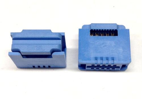 M5242 2 Stück T/&B 622-1015 Flachband-Kabel-Stecker 10-polig