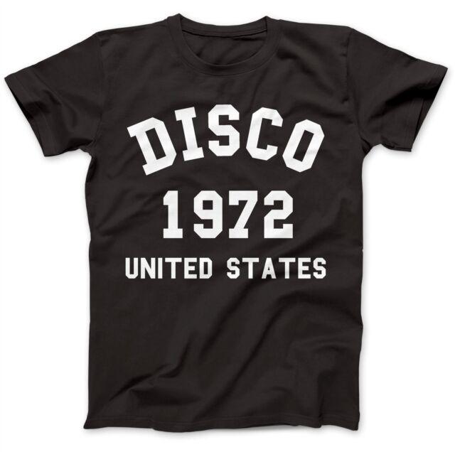 Disco Musik 1972 USA T-Shirt 100% Premium Baumwolle Italo