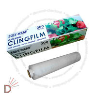 Non PVC Roll Kitchen Catering Cling Film Food Baking Wrapping 300mm x 300m