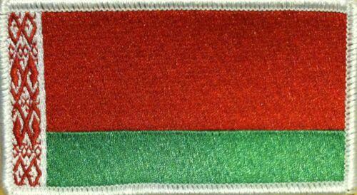 BELARUS Flag Iron-On Tactical Morale Emblem Patch White Border #80