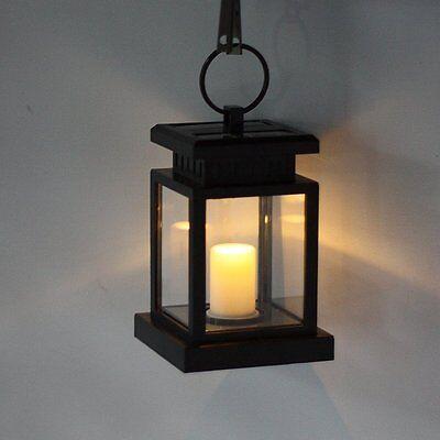 New Outdoor Candle Lantern Solar Powered Light Garden Yard Wall Landscape Lamp