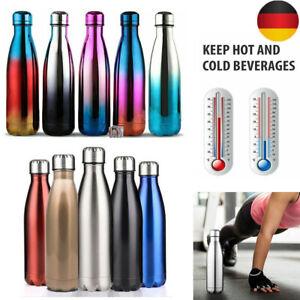 Thermosflasche Edelstahl Flasche Isolierkanne Trinkflasche Wasserflasche Sport