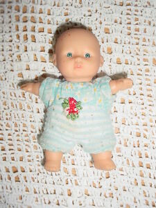 "5"" Gi Go Baby Doll Blue White Striped Clothes Soft Stuffed"