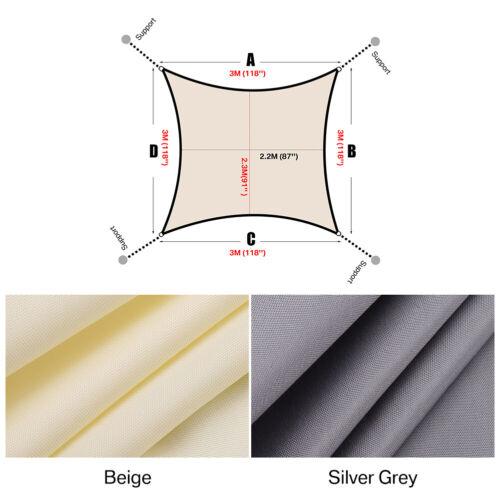 Couverture imperméable extérieure d/'auvent rétractable voile d/'ombrage 3 3,6 5m