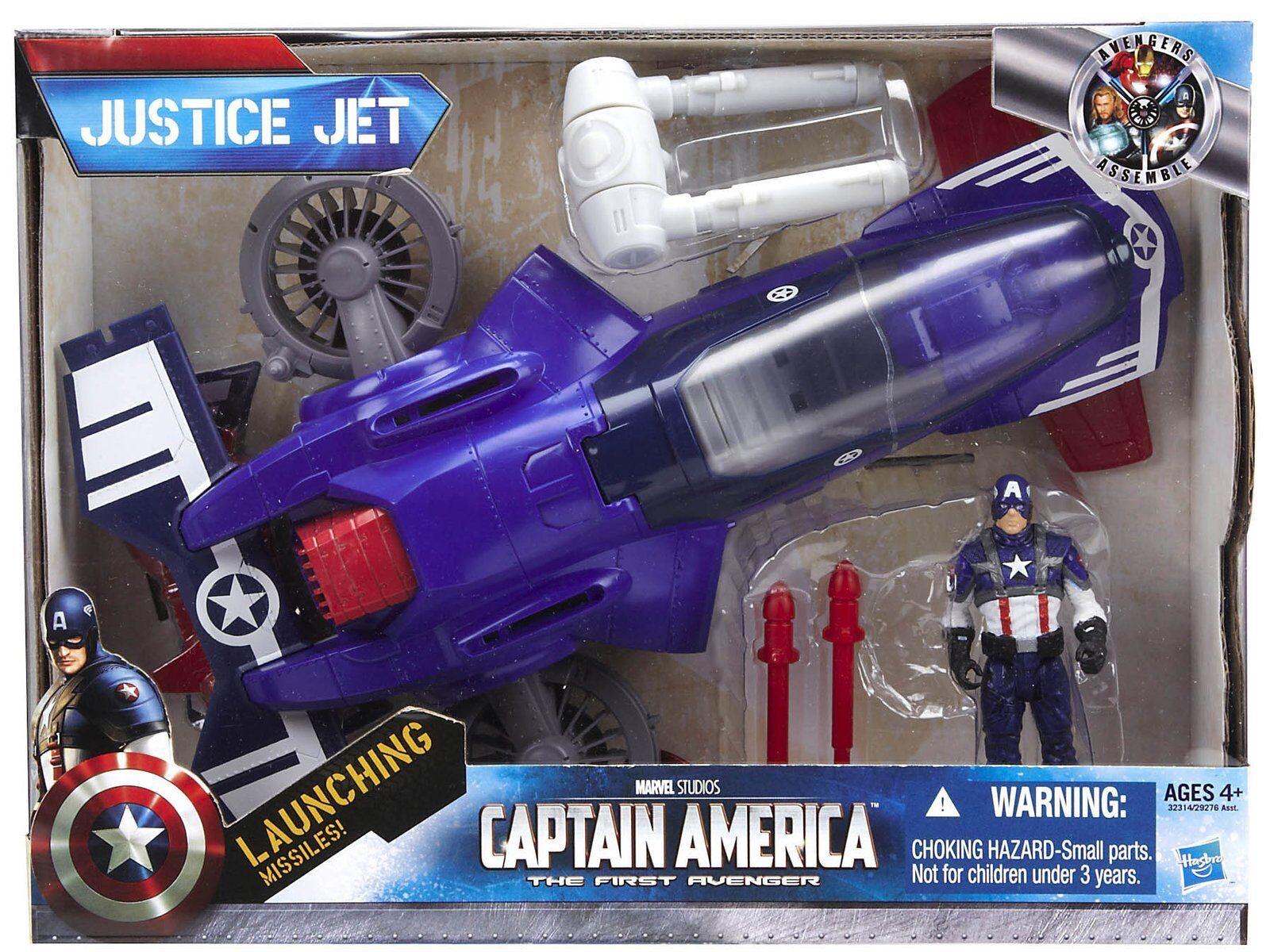 Marvel Legends Avenger Vehicle Captain America Justice Jet with Figure UK Seller