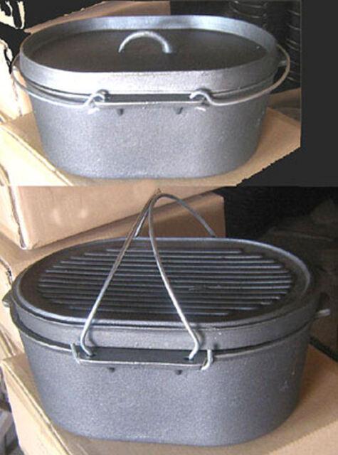 Oval Roaster Self-basting lid Cast iron Dutch Oven
