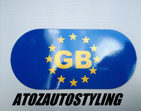 Gb Magnetic Sticker Oval Plate - Can Be Used For European Driving