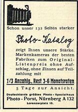 Photo-Porst Nürnberg PHOTO-KATALOG Historische Reklame von 1929