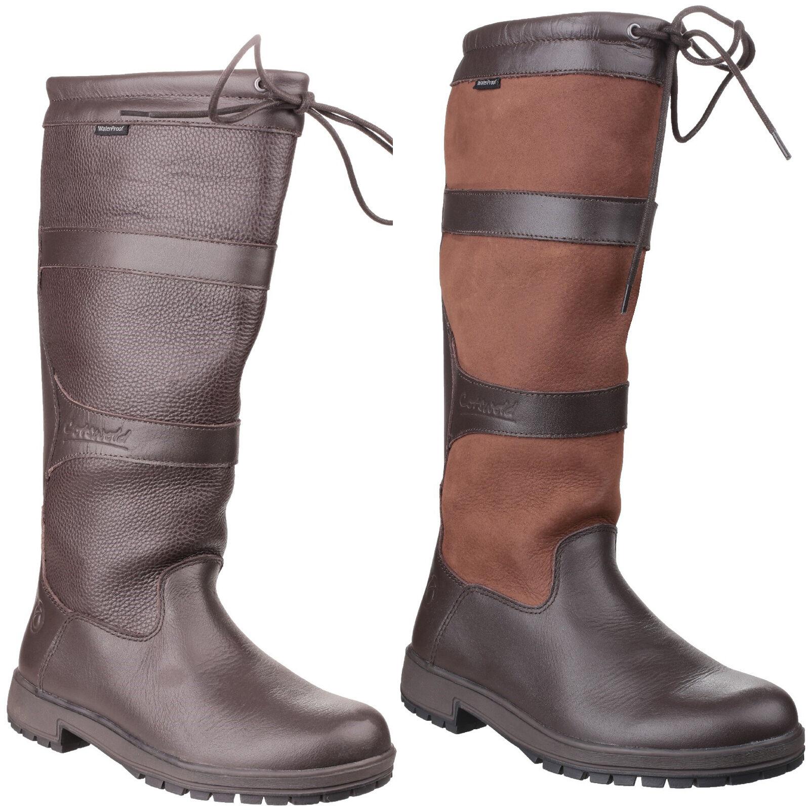 Cotswold Beaumont Impermeable botas botas botas para mujer Tire De Wellingtons Wellies UK4-8  calidad fantástica