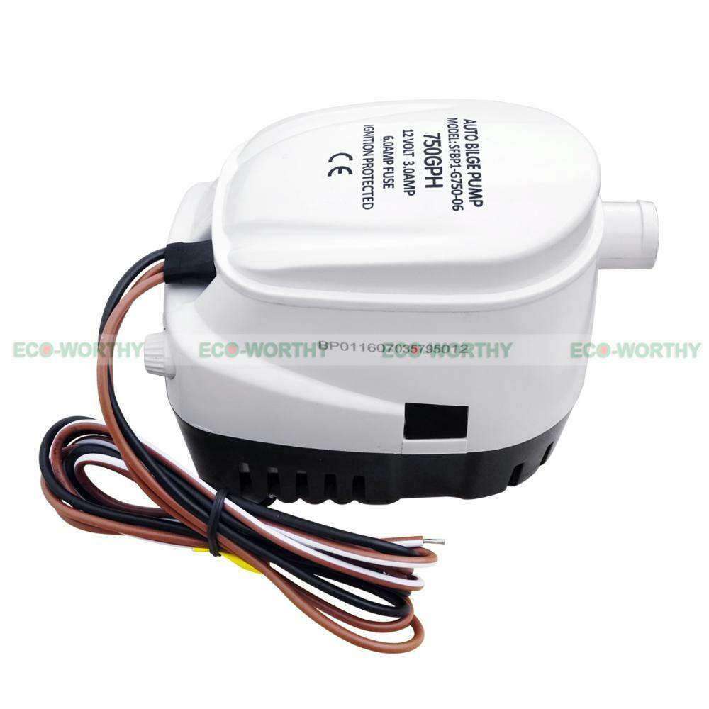 New 20a Universal Automatic Bilge Pump Float Switch For