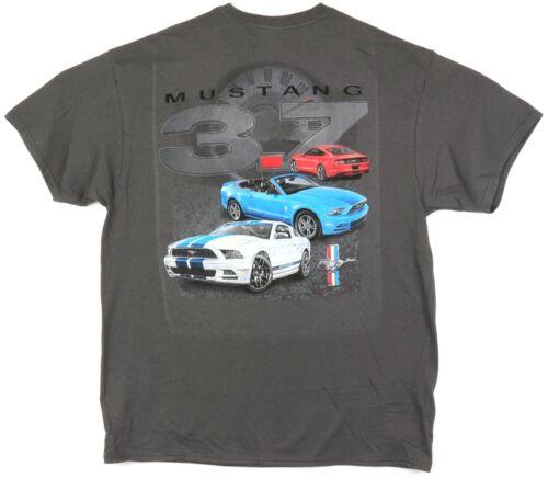 Ford Mustang 3.7 Men/'s T-Shirt Charcoal Gray 5th 6th Gen 2011-2017 3.7L Pony