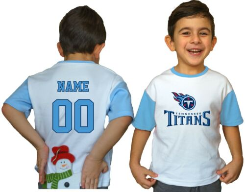 Tennessee Titans Kids Tee Shirt NFL Personalized Logo Youth Unisex Jersey Gift