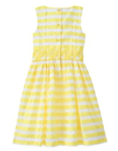 GYMBOREE EGG HUNT YELLOW STRIPED N BOW EASTER DRESSY DRESS 4 6 7 8 NWT