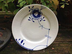 REAL Copenhagen MEGA Azul/Azul ESTRIADA MEGA Plato de desayuno Ø 22 cm NUEVO