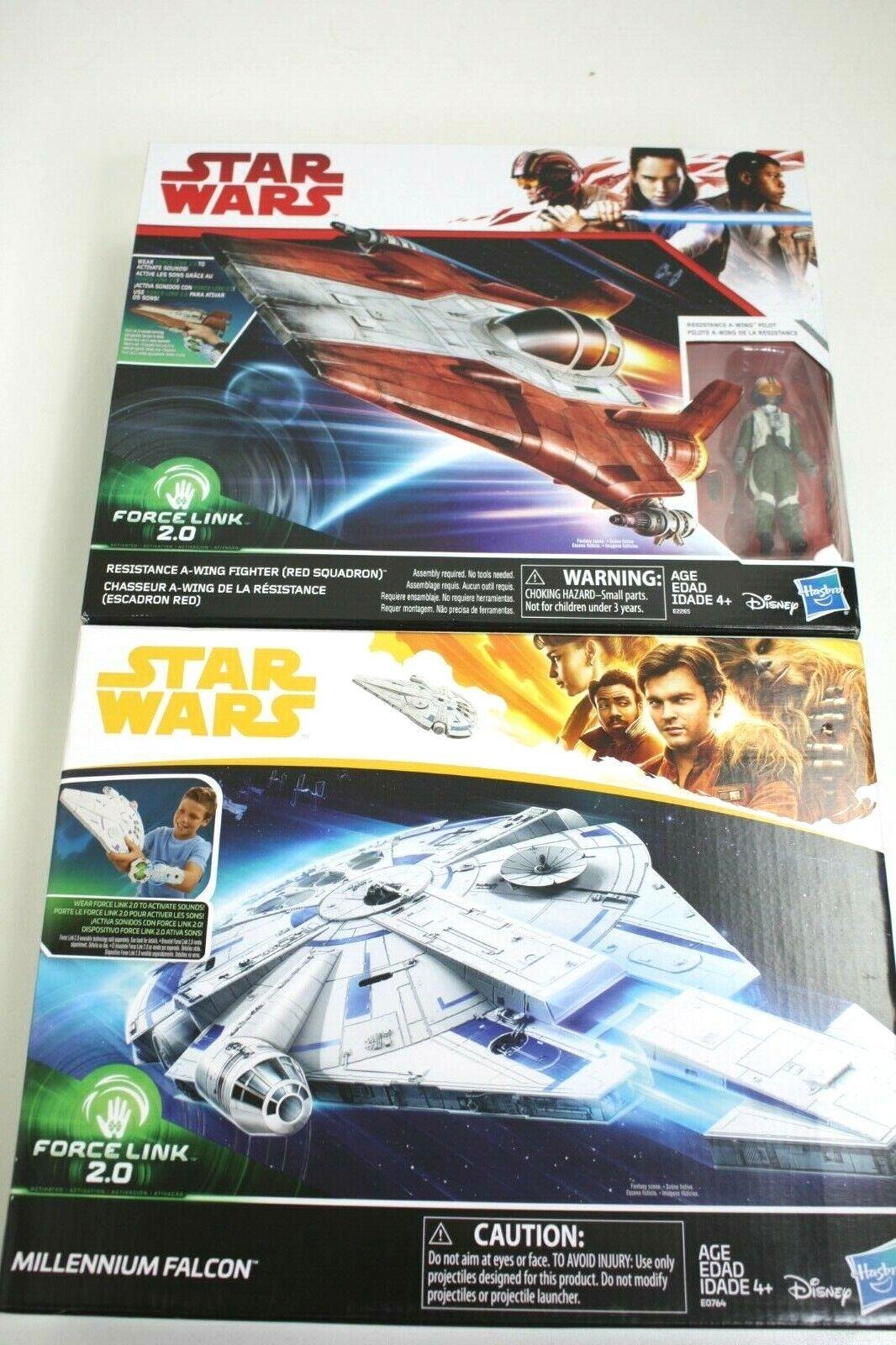 Hasbro estrella guerras Resistance A-Wing combatiente w   pilot & Millennium Falcon  i nuovi marchi outlet online