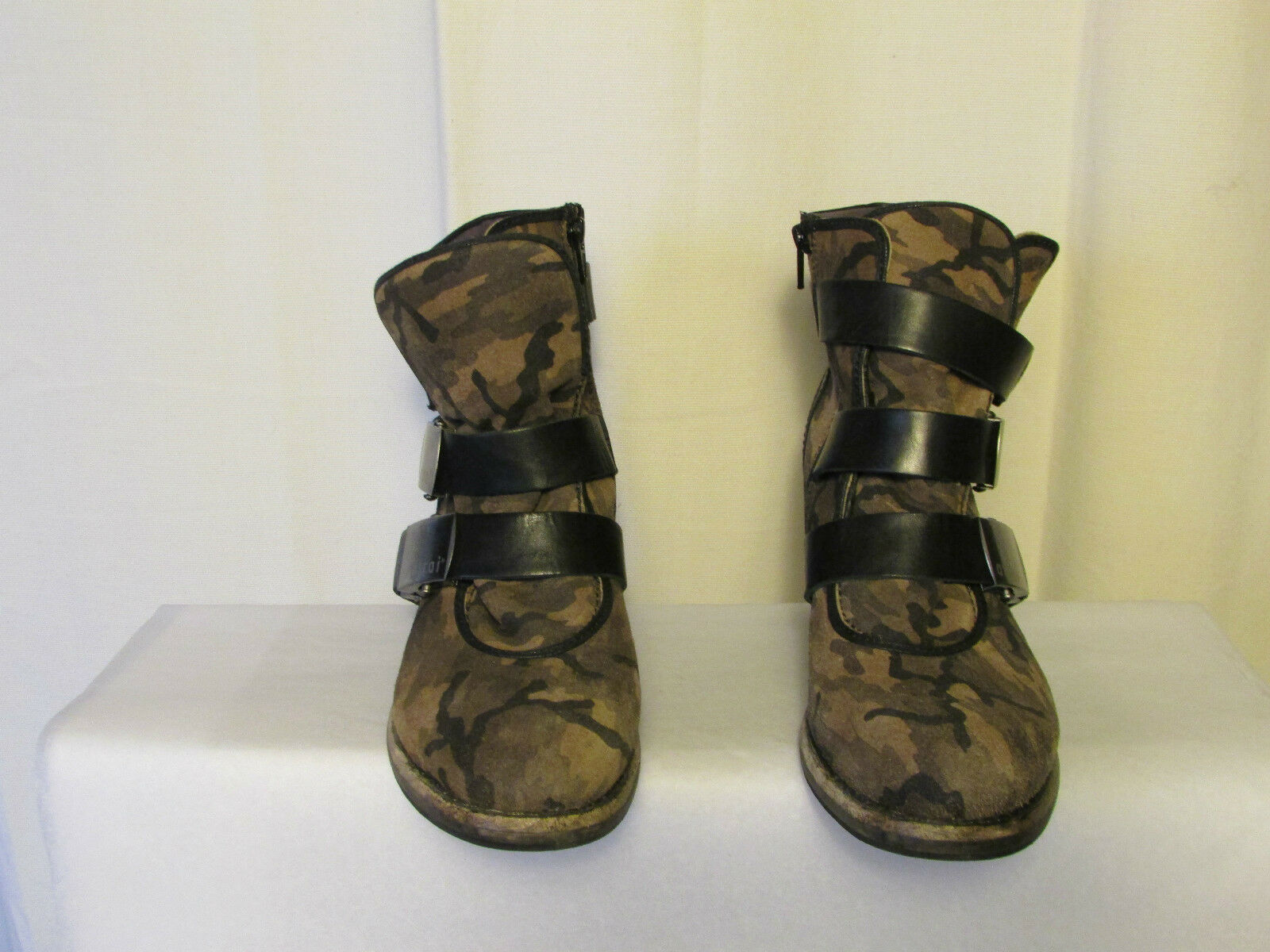 Stiefel/Stiefletten Tarnung ATRAI Wildleder Tarnung Stiefel/Stiefletten und Leder schwarz 41 990586