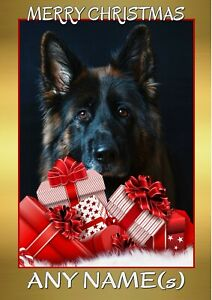 PERSONALISED GERMAN SHEPHERD ALSATIAN DOG BIRTHDAY CARD A5 ANY NAME AGE OCCASION