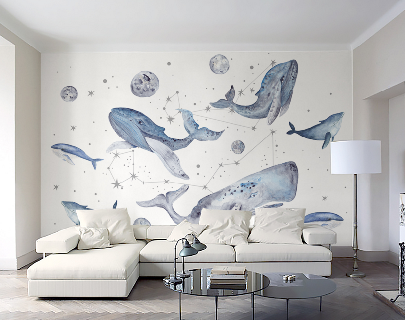 3D Dolphin Planet 140 Paper Wall Print Wall Decal Wall Deco Indoor Murals
