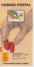 España Codigo Postal año 1987 (CV-823)