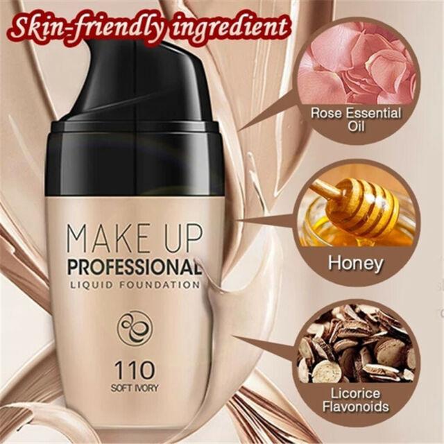 Smooth Silk Serum Foundation Full Coverage Professional Matte Liquid Makeup