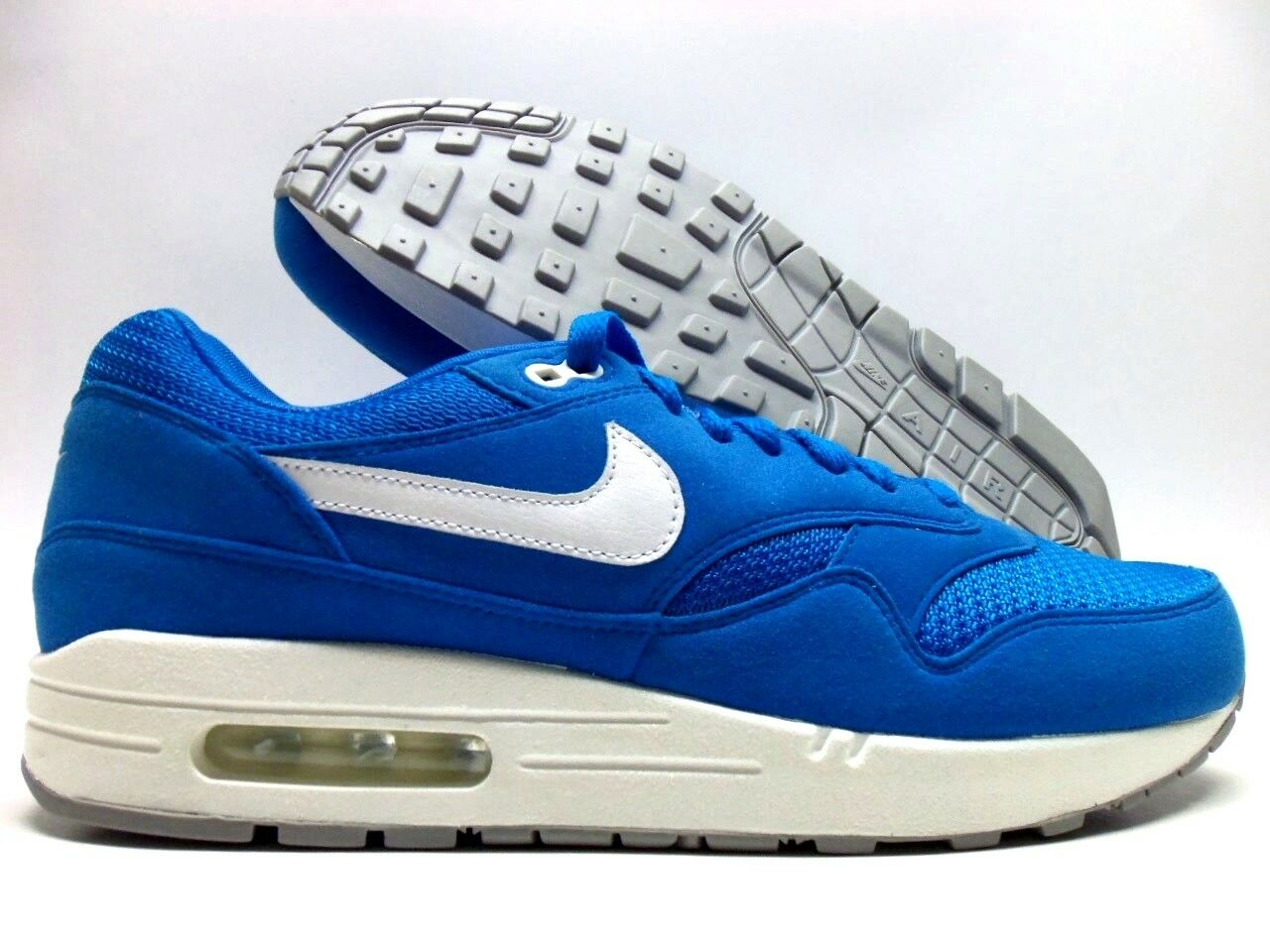NIKE AIR MAX 1 ID LASER BLUE/WHITE-COOL GREY SIZE MEN'S 10 [943756-983]