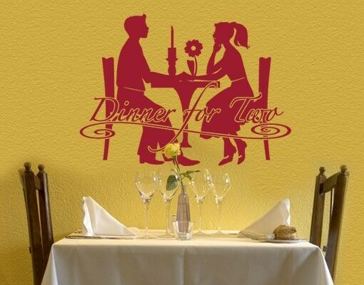 Dinner for Two - highest quality wall decal stickers