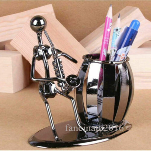 """5/"""" Metal Nuts And Bolts Musician Figurine Figure Pen Holder Music Gift"""