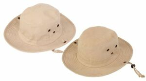 Australian Style cotton  Bush Hat with chin cord 4 size FREE fast post 1st class