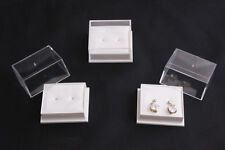 20 x Clear Top Plastic Low Dome Earring Boxes