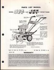 ARIENS JET & SUPER JET ROTARY TILLER  PARTS MANUAL P/N JSJ-61-1 (R)  (169)