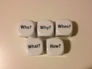 Question-Dice-White-16mm-pack-of-5-Literacy-Teaching-Resource-UK-D093