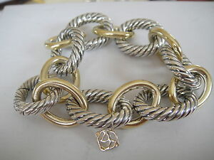 Image Is Loading 1850 David Yurman 18k Gold Ss Extra Large