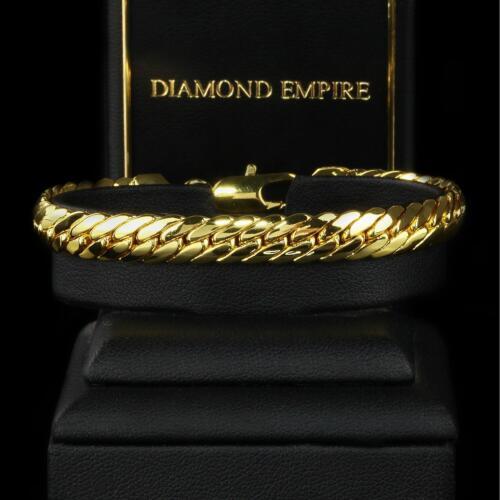 Armband Panzerkette 18,5 cm Echt 750er Gold 18Karat vergoldet Damen Herren B1444