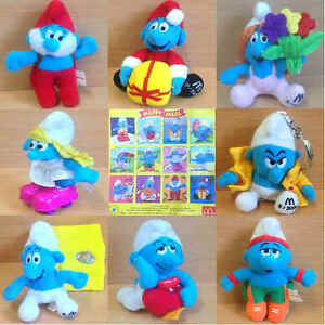 0f850454e7b54 McDonalds Happy Meal Toy 2000 Calendar Smurfs Monthly Cuddly Figures ...
