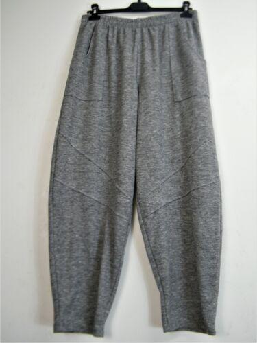 1 Plus Lagenlook Misto fibre 15/% LANA ITALIANA Pants Pantaloni 2 Taglie Plus 2