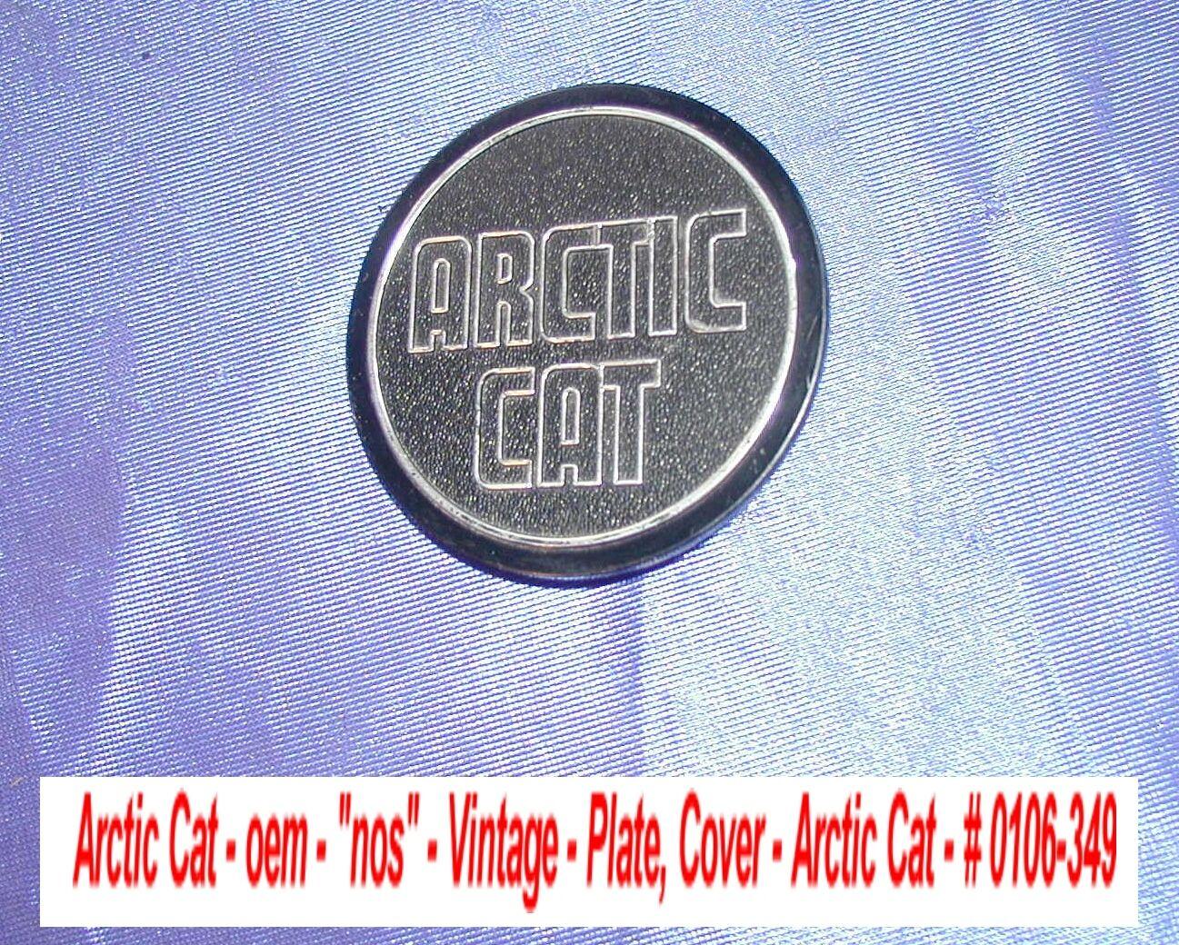 Arctic Cat oem Plate, Cover-Arctic Cat, Console Hood  Vintage