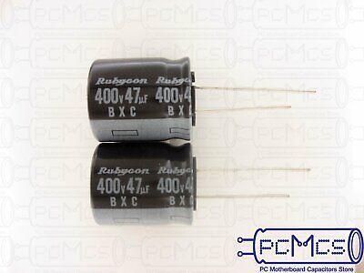 3pcs 47uF 400V Rubycon BXC  400V47uF High Ripple Long Life Capacitor 18x18mm