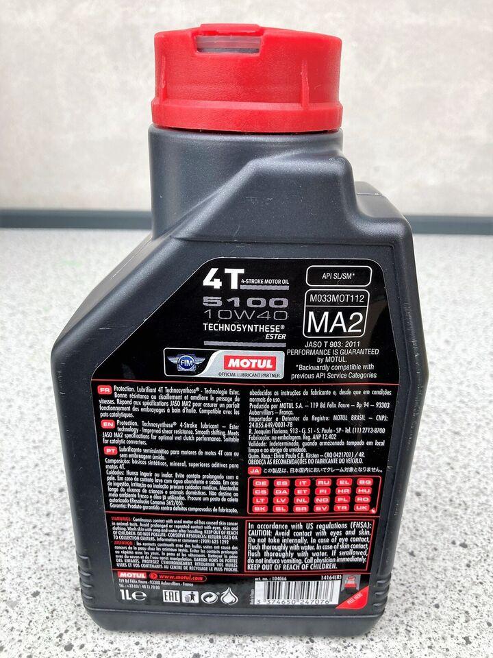 Motorolie 4T, 1 liter, Motul 10W-40 5100
