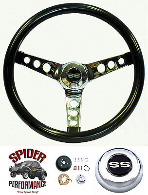 "1969-1977 Chevelle Malibu steering wheel SS 13 1//2/"" GLOSSY GRIP steering wheel"