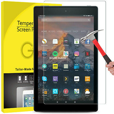 2 Pack Genuine Tempered Glass Screen Protector For AMAZON Kindle Alexa Fire 7/""