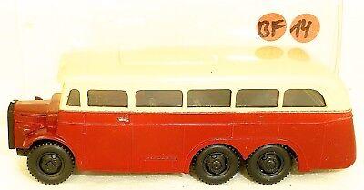 Automotive Model Building Charitable Tatra Resin Bus Red Cream V&v H0 1:87 Bf14 Å