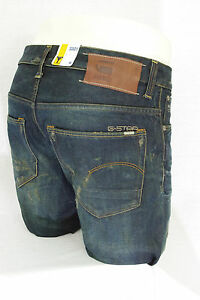 2f5bed3a6639f Details about G STAR RAW jeans homme 3301 Low Tapered Dark Aged Used jauni  50779 5166 3144