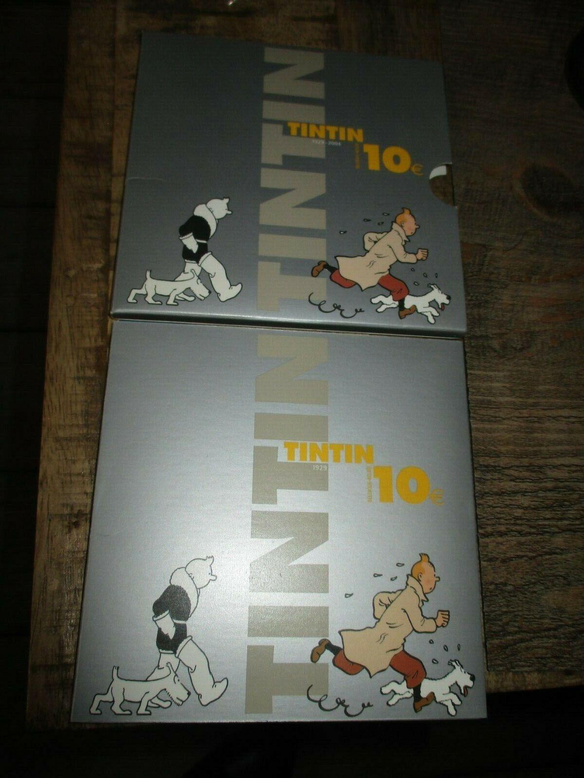 Tintin&Hergé-Coffret collector pièce en Silber(10EU) -Limité&Numéroté
