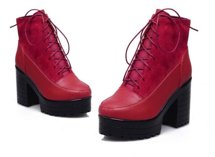 presentando tutte le ultime tendenze della moda Stivali stivaletti invernali alti comodi scarpe donna tacco 9 cm cm cm rosso 8748  prezzi all'ingrosso