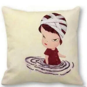YOSHITOMO-NARA-CUSHION-COVER-RARE-JAPANESE-ARTIST-JAPAN-ART-NEVER-USED-F-S