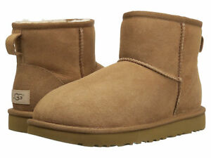 Women-UGG-Classic-Mini-II-Boot-1016222-Chestnut-Suede-100-Authentic-Brand-New