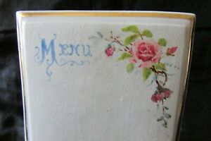 Beautiful-Antique-French-Ceramic-Wipeable-Wipe-Clean-Ceramic-Hand-painted-Menu