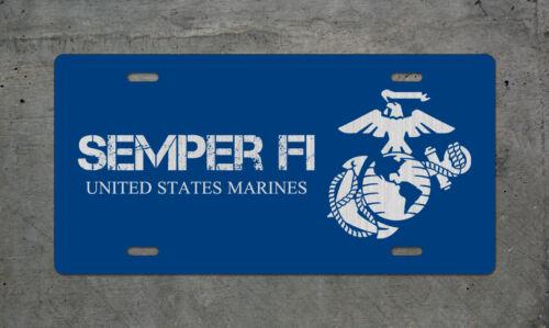 metal sign military auto tag USMC United States Marine Semper Fi License Plate
