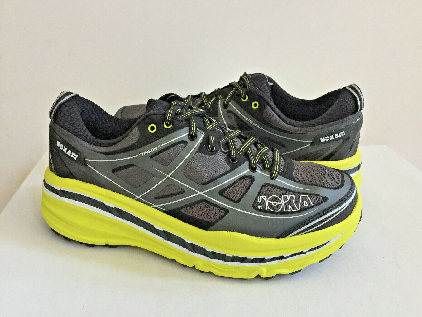HOKA ONE UOMINI STINSON 3 ATR GRY   CITRUS SHESUS 9   EU 422  3   UK 8.5